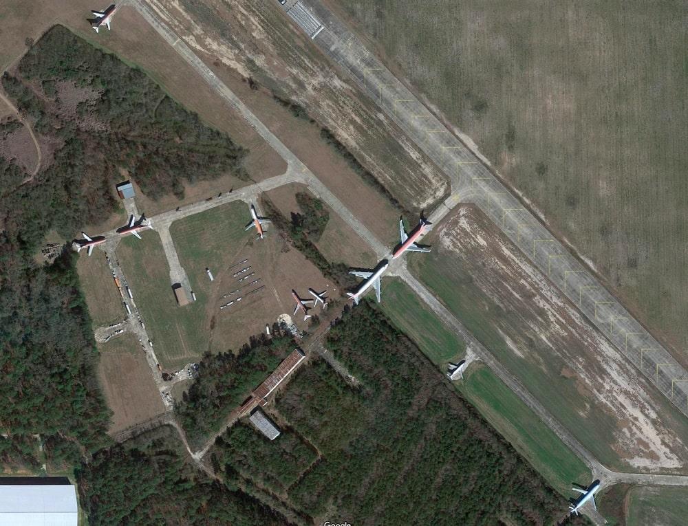 Laurinburg-Maxton Aircraft Boneyard